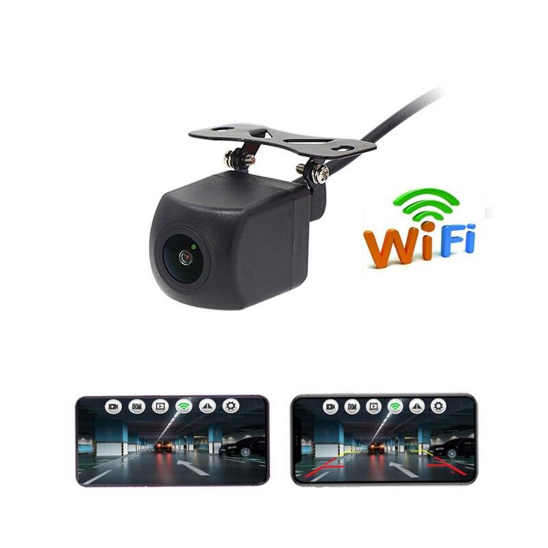 Videocamera Vista Posteriore Wifi Per Auto Monitor di Sistema Full HD di VISIONE NOTTURNA Video Rcorder Impermeabile di Backup Parcheggio Retromarcia Dashcam 12V