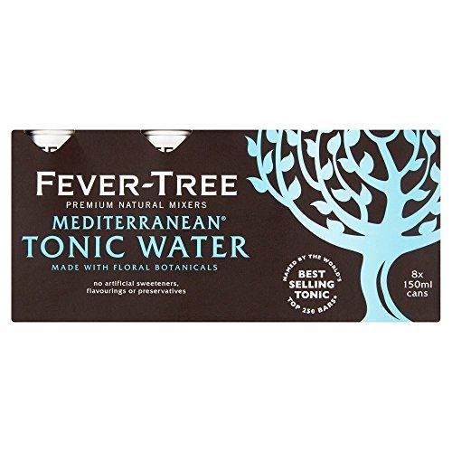 Fever Tree Mediterranean Tonic Water In Cans 8x150ml