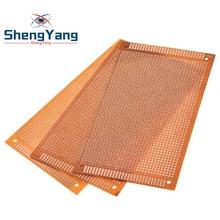 5pcs 9x15 9*15cm Single Side Prototype PCB Universal Board Experimental Bakelite Copper Plate Circuirt Board yellow
