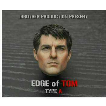1/6 Scale Tom Cruise Male Head Sculpt Carving Model 2019 Edge of Tomorrow Toy Fit 12