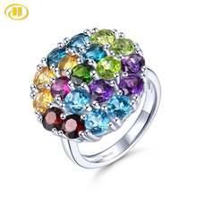 Женское кольцо из серебра 925 пробы с натуральным красочным