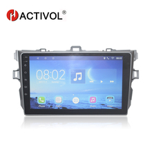цена на HACTIVOL 9 car radio for TOYOTA COROLLA 2007 2008 2009 2010 2011 android 7.0 car dvd player with bluetooth,1G RAM 16G ROM