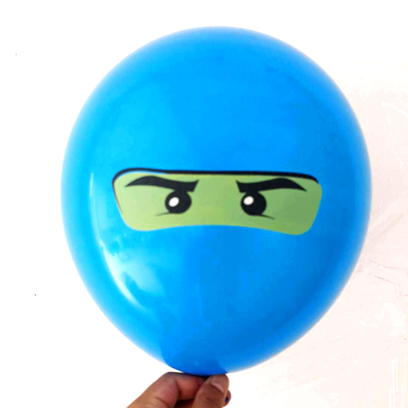 Image 2 - 10Pcs/lot Legoing Ninjagoing Theme Balloons for Boys Kids Birthday Party Decoration 12inch Latex Ninjago Balloon Party Supplies-in Ballons & Accessories from Home & Garden