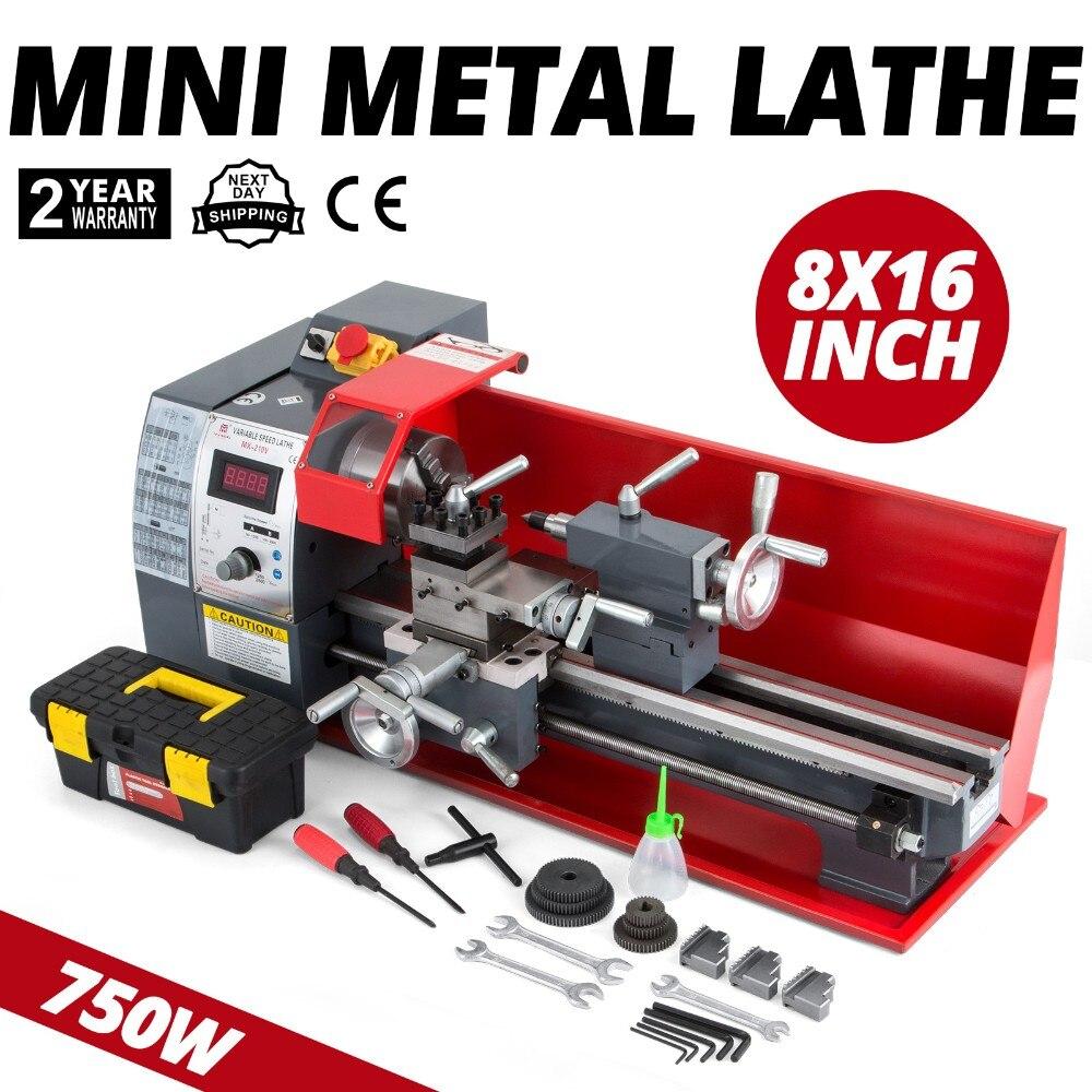 Mini Drehmaschine 8x16 Zoll Metall Drehmaschine Automatische Werkzeug Hohe Präzision Holz Maschine