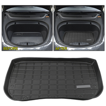 Car Front Rear Trunk Storage Mat Protective Pads Waterproof Trunk Cargo Tray For Tesla Model 3 Car styling Trunk Mats