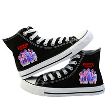 Stranger Things 2019 Canvas Shoes For Women Causal High Heel