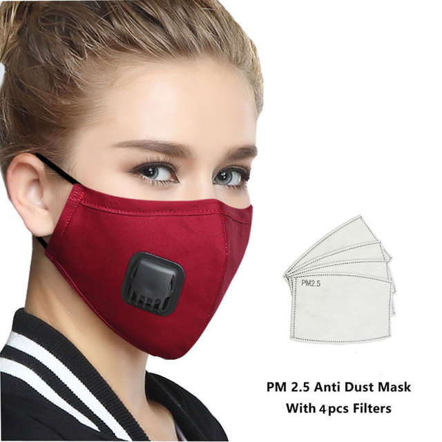 PM 2.5 Mask Full Face Protective Mask Anti-Dust Flu Mouth Face Masks Respirator Activated Carbon Washable Breathing Apparatus 1