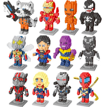 Hot Sell Marvel Super Hero Building Blocks Toys Spiderman Iron Man DIY Diamond Particle Compatible for Children Xmas Gift Toy