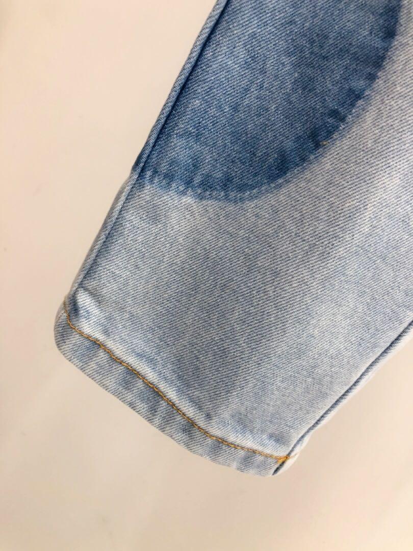 High 2020 New Runway Fashion Denim Patchwork Suits Women Turn Down Collar Long Sleeves Jacket + Long High Waist Pants Light Blue