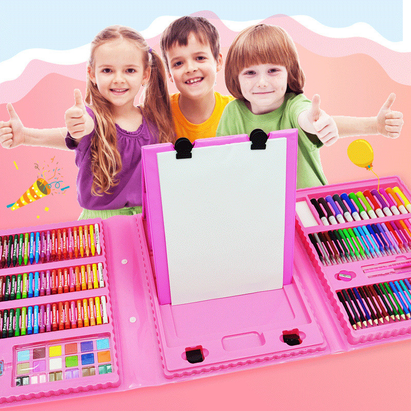 86/168pcs Colored Pencil Artist Kit Pen Brush Drawing Tools Set Kindergarten Supplies Painting Crayon Marker