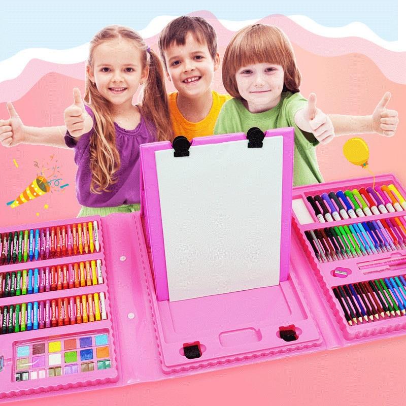 86/168pcs Colored Pencil Artist Kit Pen Brush Drawing Tools Set Kindergarten Supplies Painting Crayon Marker