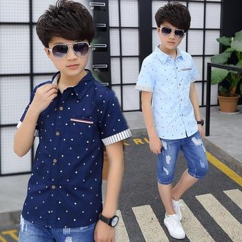 Boys' High-Cotton Dotted Shirts