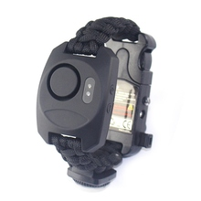 Braided Bracelet Whistle Compass Alarm Paracord  Survival Wristband Adventure Emergency Rope Bracelets Outdoor Tools