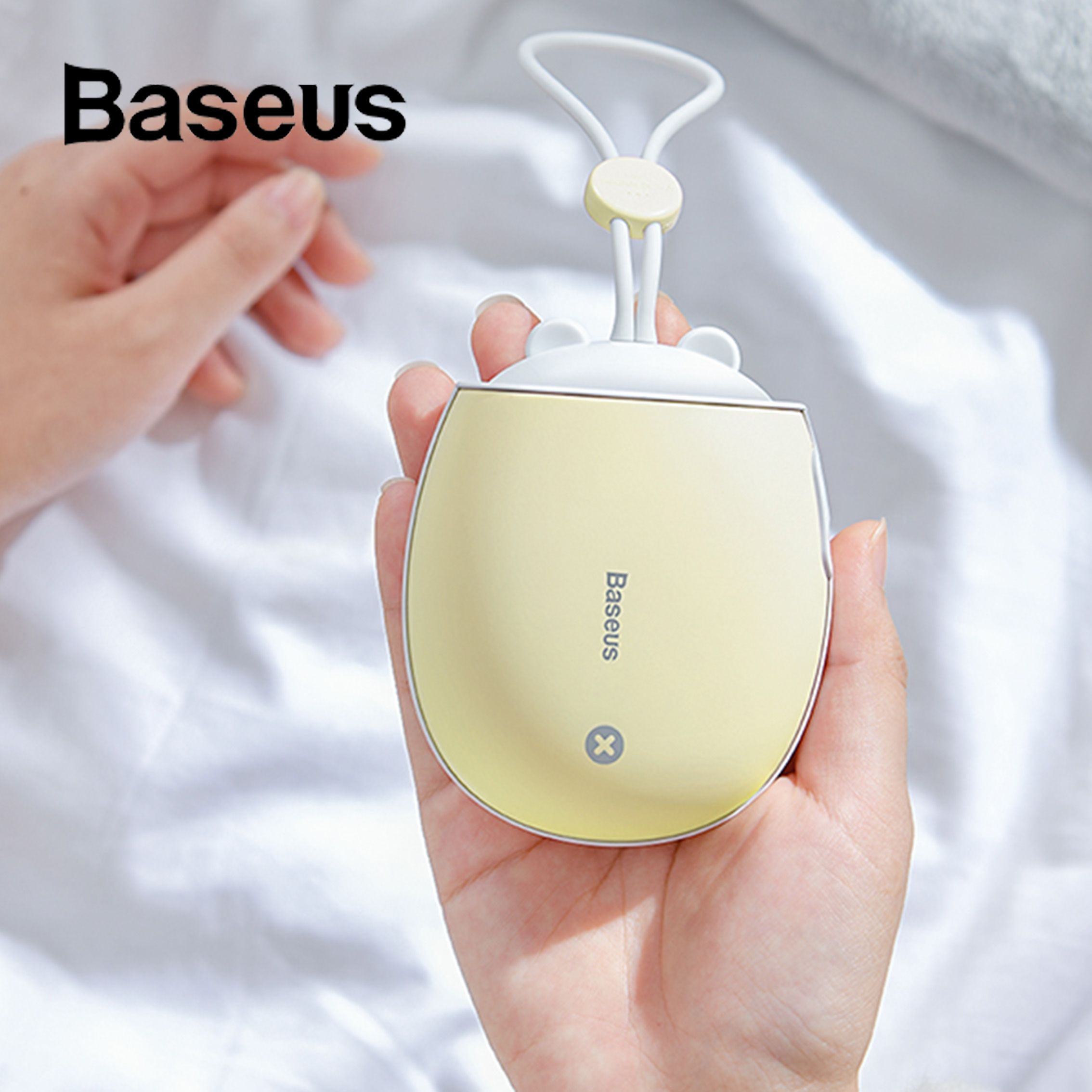 Baseus Mini Heater Portable Hand Warmer Rechargeable Handy Heater Pocket 4000 MAh Powerbank USB Night Light Home Travel Heating