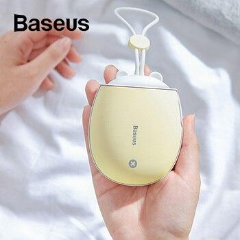Baseus Mini Heizung Tragbare Hand Wärmer Aufladbar Handliche Heizung Tasche 4000 mAh Power USB nachtlicht Home Reise Heizung
