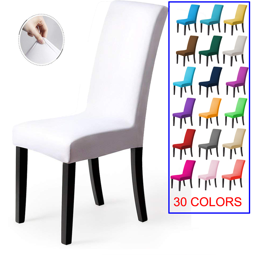 Meijuner Solid Chair Cover Spandex Slipcover Modern Stretch Elastic Chair Cover For Room  Party Universal Kitchen Chaircover
