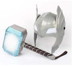 Costume Helmet Weapon-Hammer Led-Light Quake Avengers Cosplay 2-Thor Model-Toy Party