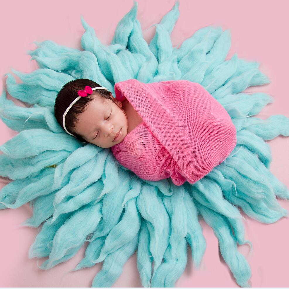 Don&Judy 3pcs/set Newborn Baby Photo Props Blanket with Matched Wrap and Headband Infants Photo Shoot Photography Accessories