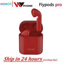 Honor flypods pro Беспроводные сенсорные водонепроницаемые динамические наушники с сенсорным управлением Беспроводная зарядка Bluetooth 5,0