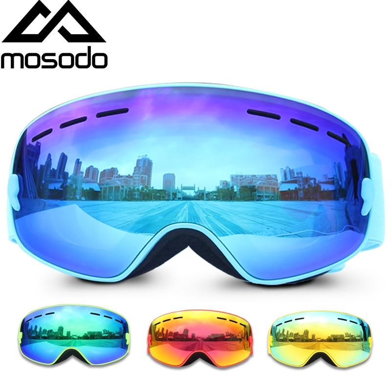 Mosodo детские лыжные очки, маленькие размеры, для детей, UV400, противотуманные очки, лыжные, для девочек и мальчиков, сноуборд, большие сферическ...