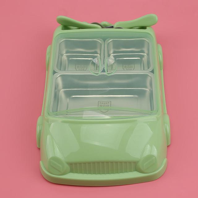 Kreatywny Cartoon Car Plate naczynia dla dzieci zestaw talerz z włókna bambusowego + kubek sub-siatka miska prezent dla dzieci zestaw stołowy naczynia do karmienia tanie i dobre opinie Silikonowe Zestaw obiadowy SD463726
