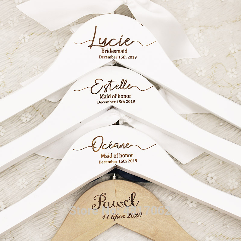 Wedding Hanger Bridesmaid Hanger Personalized Wedding Dress Hanger mrs hanger Mrs Hanger bridal Gift Bridal Hanger Bride Hanger