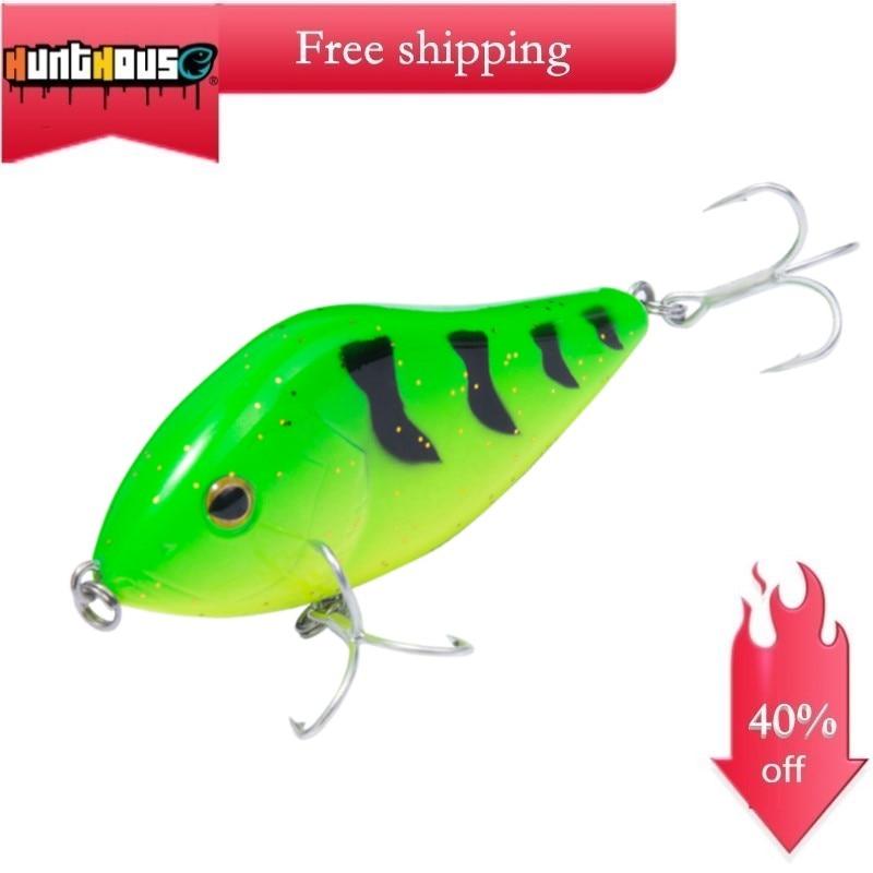 Hunthouse Slider Sinker Fishing VIB Jerkbait Lure 7&10cm Crankbaits Jerkbaits Fishing Pike Leurre Pesca Jerkbait Wobblesr