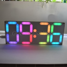 Large Inch Rainbow Color Digital Tube DS3231 Clock DIY kit with customizable colors Electronic kit Gift Drop Shipping