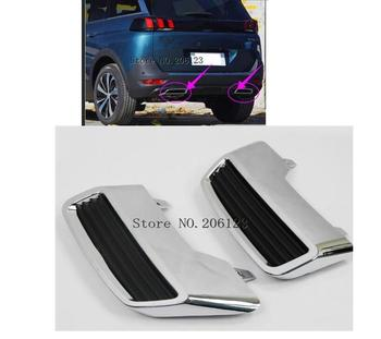 For Peugeot 3008 5008 Allure 2017 2018 Car Tail End Pipe Exhaust Muffler Cover Trim 2PCS Car Styling Auto Replacement Kit