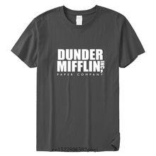 Erkek DUNDER MIFFLIN kağıt a. Ş ofis tv show pamuk T-Shirt yaz pamuk T shirt Unisex elbise