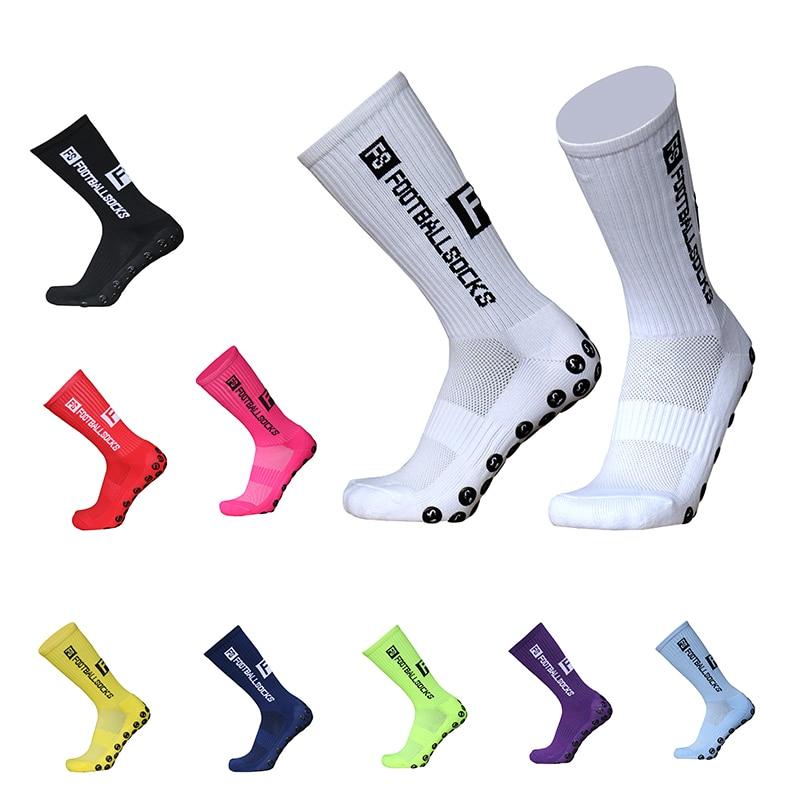 Новые стильные футбольные носки FS, круглые силиконовые Нескользящие носки с присоской, спортивные мужские женские мужские бейсбольные носки для регби        АлиЭкспресс