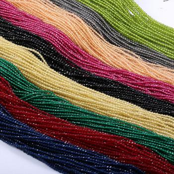 Faceted Stone Beads Spinels Stone Rectangle Section Beads Mixed Color for Jewelry Making DIY Bracelet Necklace Accessories 2/3mm