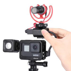 Image 5 - Ulanzi V2 Pro V3 Pro Gopro Vlog étui Cage avec 52MM filtre micro adaptateur objectif capot Vlog étui pour Gopro 7 6 5