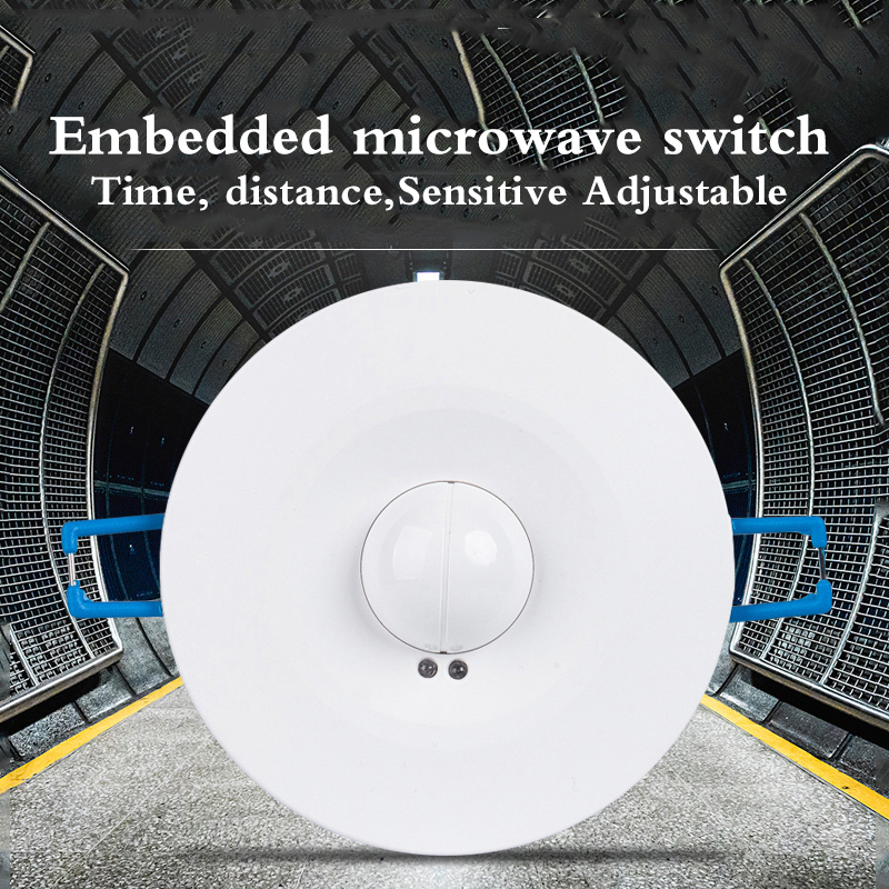 Image 2 - High Quality 360degree 600w/1200w Microwave Smart Motion Sensor AC220 240V Light Radar Switch Ceiling Recessed Wall CM090-in Switches from Lights & Lighting