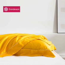 Sondeson Luxury Beauty 100% Silk Yellow Pillowcase 25 Momme Silk Healthy Skin Hair Pillow Case For Women Men Kids Free Shipping
