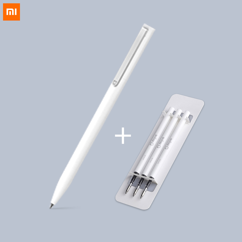 Xiaomi Pen Mijia Ballpoint Signing Pen Smooth Mi With 0.5mm Swiss Refill 143mm Rolling Roller Ball Mi Xiaomi Sign Blue Black Ink