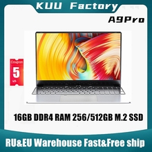 KUU A9 Pro 15.6 inch FHD Laptop For Intel 3867U Dual-core 16GB DDR4 RAM 512GB M.2 SSD camera studen game office notebook
