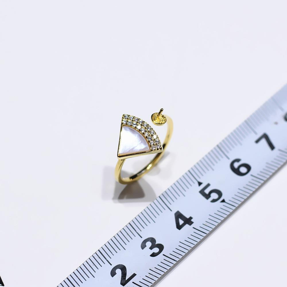 Fan Ring Mountings Base Findings Wholesale 925 pure silver Ring Setting Base Adjustable Ring Jewelry Setting Parts