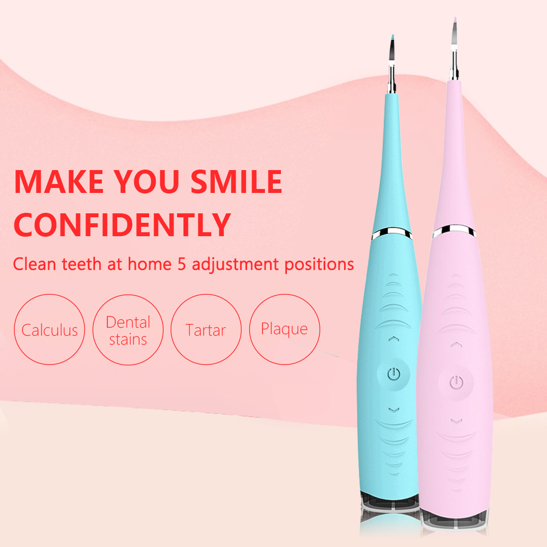 Portable Electric Ultrasonic Dental Scaler Tooth Teeth Whitening Calculus Remover Tooth Stains Tartar Tool Dentist Oral Hygiene