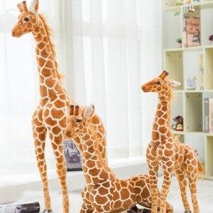 Śliczne Nordic żyrafa symulacja wypchane zabawki pluszowe-zwierzęta lalki dla dzieci prezent urodzinowy