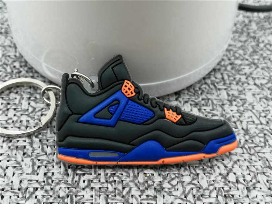 Mini mới AJ 4 Móc Khóa Thời Trang Nam Nữ Kid Jordan Móc Khóa Quà Tặng Retro Bóng Rổ Giày Sneaker Dây Chuyền Chìa khóa giá đỡ Porte Clef