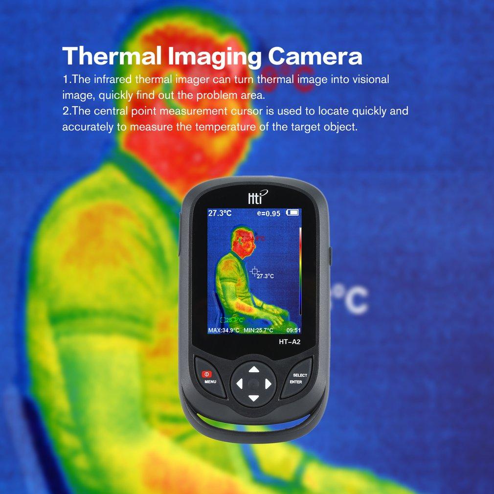 HT A2 3.2 polegada digital ir câmera de imagem térmica 0.3mp visão completa tft tela termômetro infravermelho câmera de imagem térmica detector - 4