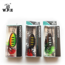 W.P.E Spinner Lure 2 pcs 18g Bress Spoon Lure Feather Metal Fishing Lure Carp Fishing Wobblers CrankBaits Treble Hook Fish Pesca fishing bait fish lure hook twist spoon crankbaits spinner accessory tool tackle 20 12