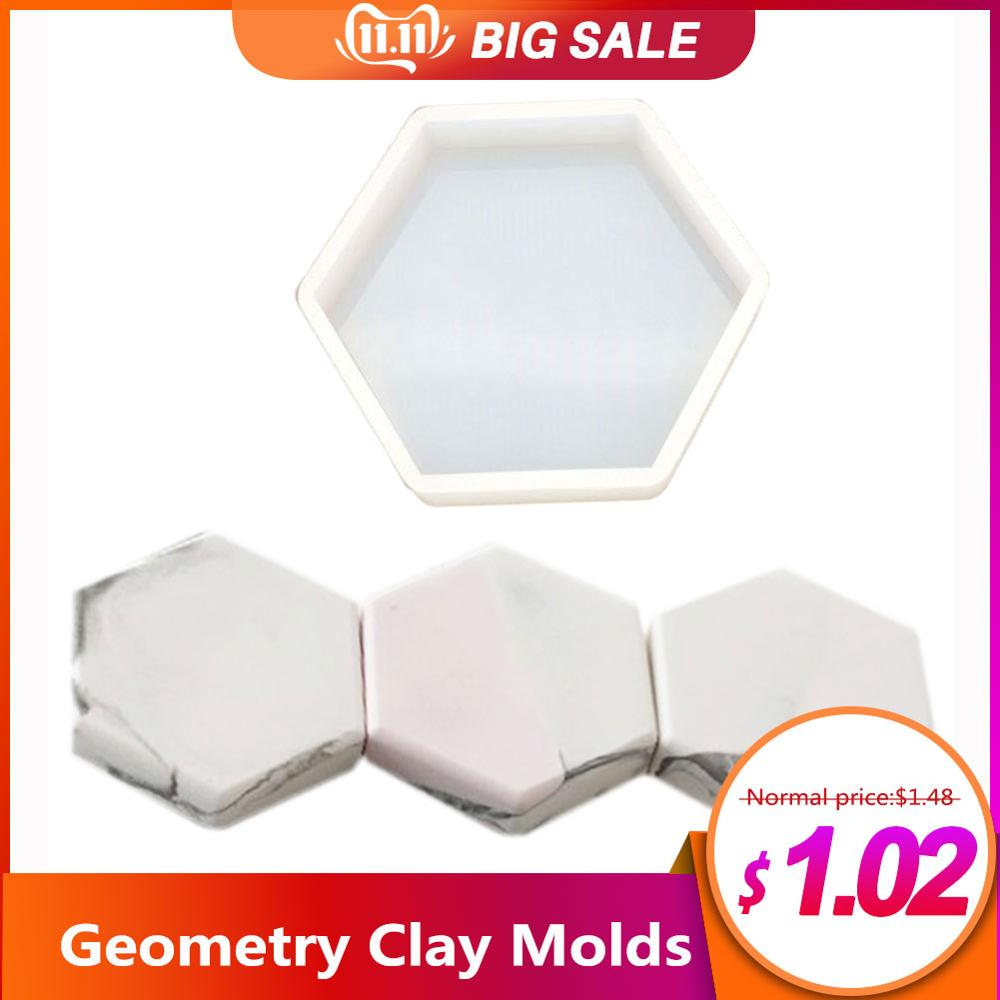 Geometry Silicone Mould DIY Octagonal Table Set Mold Plaster Aromatherapy Car Decoration Fragrance Expansion Stone Mold #AO