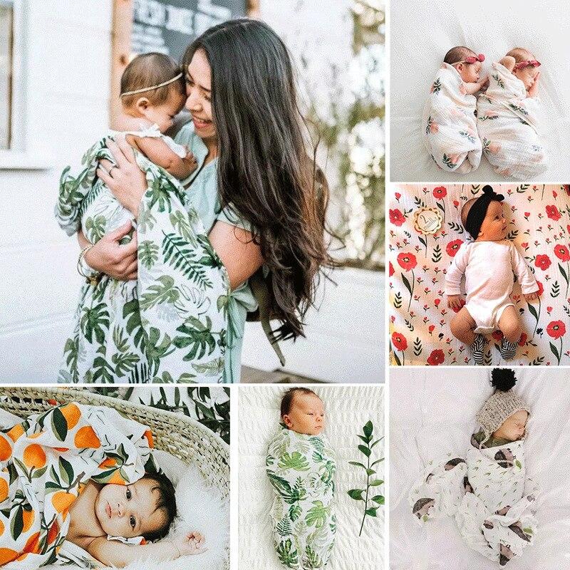 PUDCOCO Baby Newborn Wrap Swaddle Blanket And Matching Headband 2PCS Girl Boy Photography Photo Prop