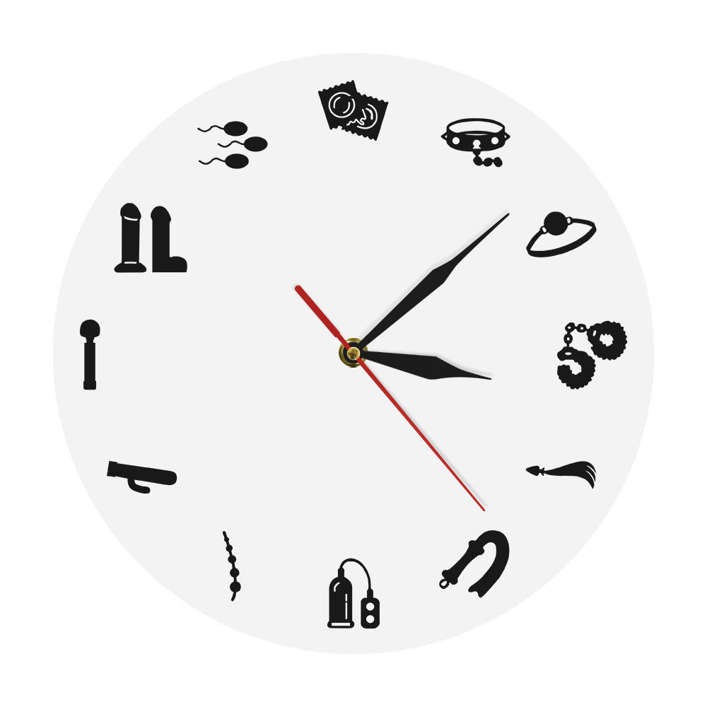 Erotic Love Sex Relationships Clock Watch Intimate Toy Modern Wall Clock Fetish Sex Toys Adult Wall Art Decoration Sex Toy Store
