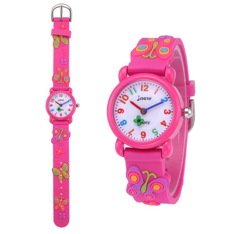 Waterproof Flower Children Watches For Girls Cartoon Lovely Bracelet Student Girl Watch Cute Quartz Watch Birthday Gift High Qua