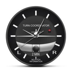 Классические бесшумные настенные часы в стиле авиа, не тикающие настенные часы для пилотов