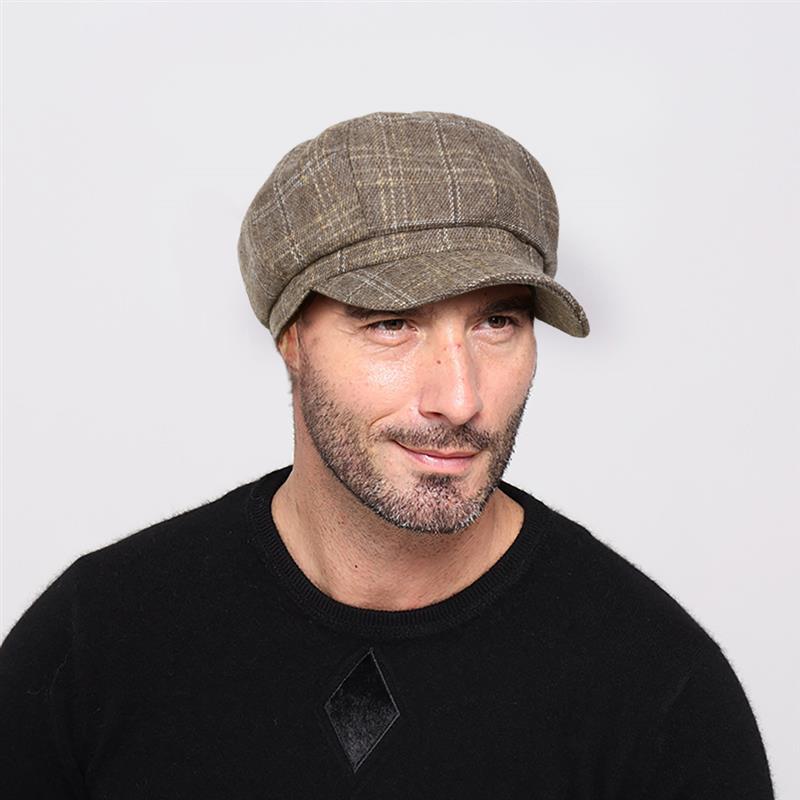 Vbiger Men and Womens Wool Fedora Newboys Hat Black