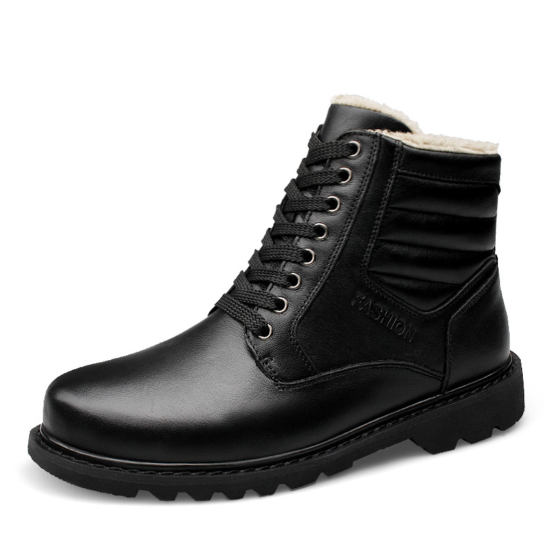 Snow Boots Men Shoes Waterproof Winter Boot Men Winter Shoes Leather Fur Warm Snow Boots Men Men Casual Shoes Leather